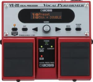 BOSS VE 20 Vocal Performance Pedal, best harmony pedal for vocals
