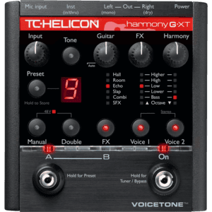 TC Helicon VoiceTone Harmony-G XT Review, a very good vocal harmony pedal for singers