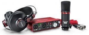 Focusrite Scarlett 2i2 [2nd Gen] Recording Bundle