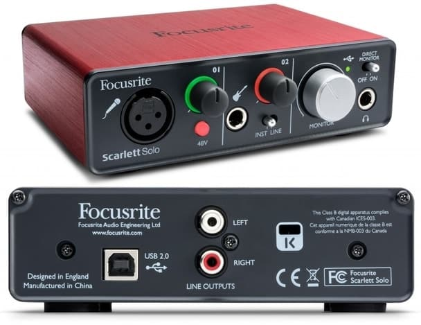 best audio interface for beginners - Focusrite Scarlett Solo
