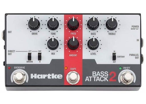 Hartke Bass Attack 2 Bass Preamp Direct Box With Overdrive