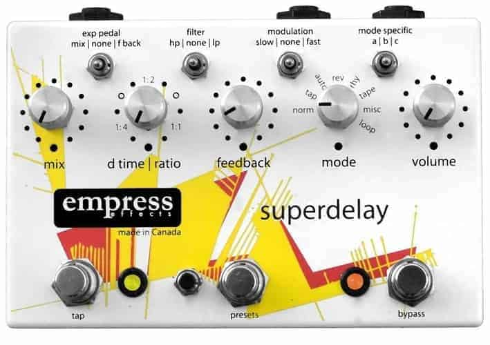 Empress Super Delay Pedal For bass guitar