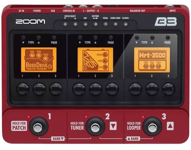 Zoom B3 Bass Multi Effects & Amp Simulator