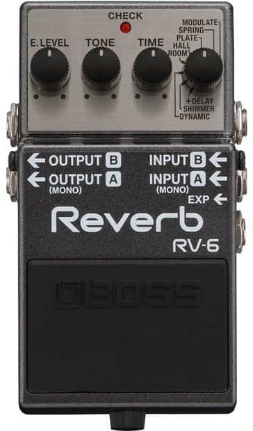 BOSS RV-6 Digital Reverb Pedal Processor Bundle