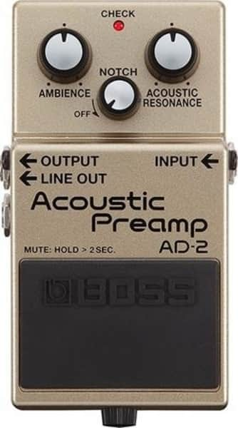 Boss AD-2 Acoustic Preamp Processing Pedal