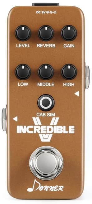 Donner Incredible V Mini Electric Guitar Preamp Pedal