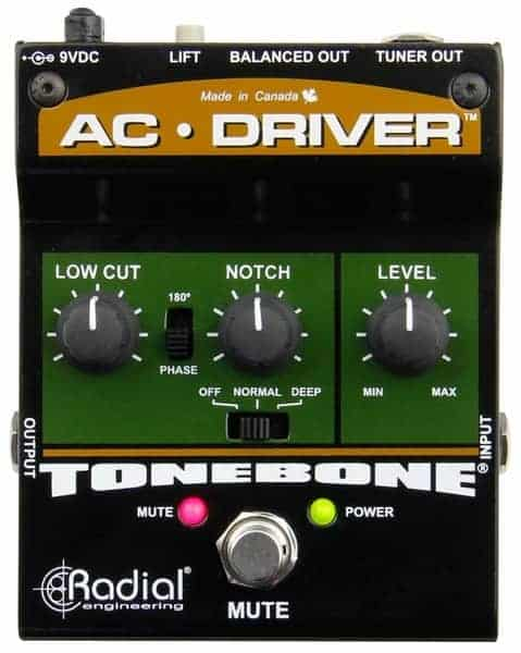 Radial AC Driver Acoustic Guitar Preamp