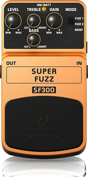 Behringer SF300 Super Fuzz Processing Pedal for Guitar