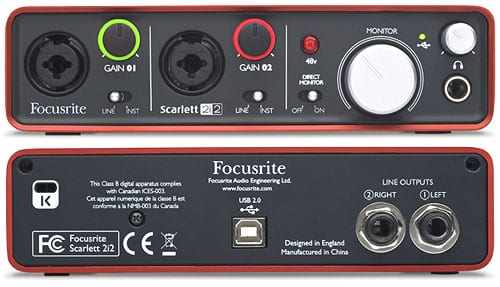 Focusrite Scarlett 2i2 Audio Interface for Guitar