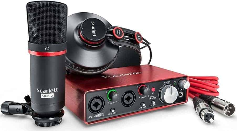 Focusrite Scarlett 2i2 Audio Interface for recording guitar
