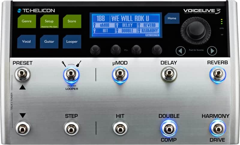 TC Helicon VoiceLive 3 - Front of Interface