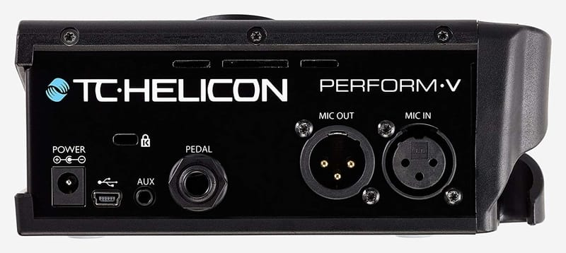 TC Helicon Perform V - Back of Vocal Processor