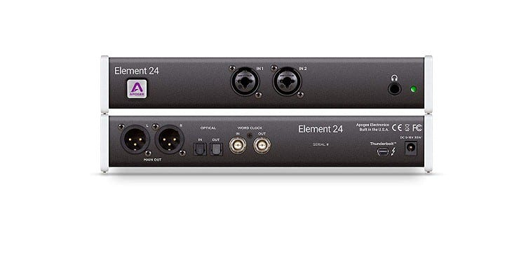Apogee ELEMENT 24 - Thunderbolt Audio Interface with 2 World-Class Apogee Mic Preamps