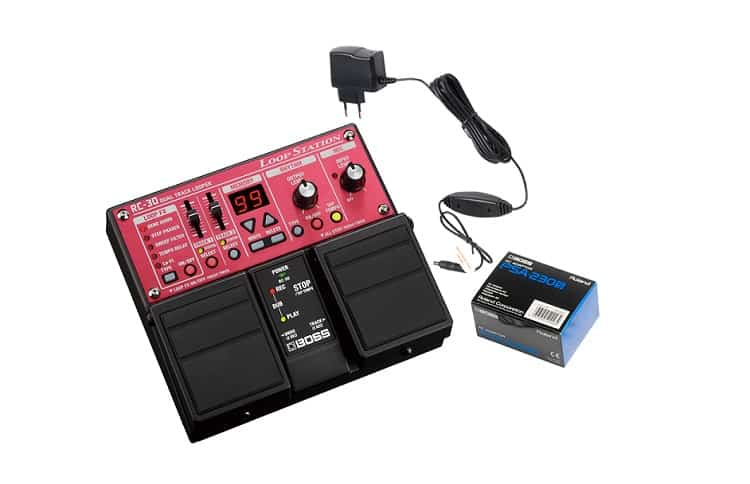 Boss RC-30 Loop Station Bundle with Instrument Cable Patch Cable