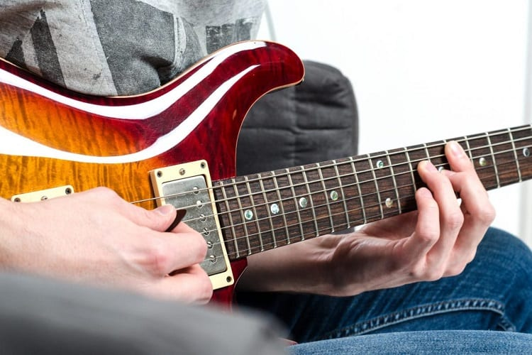 Playing on Guitar